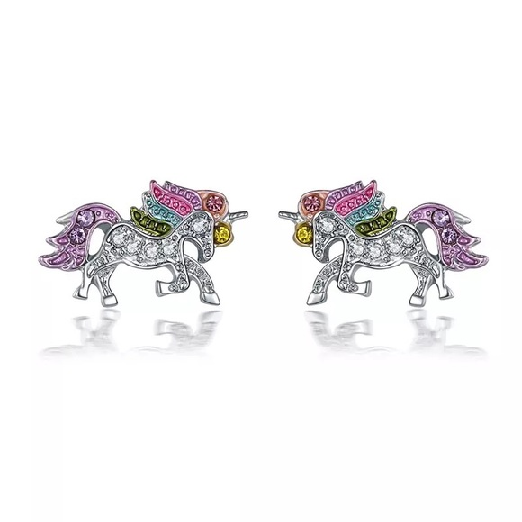 fancy fashions Other - Colorful Crystal Unicorn 🦄 Earrings